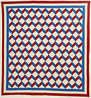 Streak of Lightning Quilt: Circa 1910; Pennsylvania