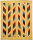 Joseph's Coat Variation Quilt: Circa 1880; Pennsylvania