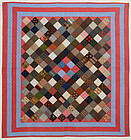 One Patch charm Quilt: Circa 1880; Pennsylvania