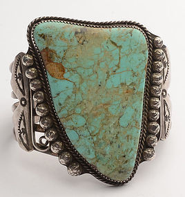Large Native American Turquoise Cuff Bracelet
