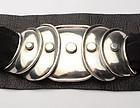 Hector Aguilar Armadillo Silver Belt Buckle; Circa 1950