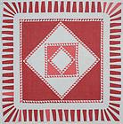 Sawtooth Diamond Quilt: Circa 1920; Pennsylvania