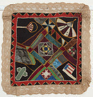 Victorian Doll Quilt with American Flag: Ca. 1870; Pennsylvania