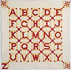 Alphabet Quilt: Circa 1880; Pennsylvania