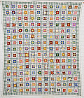 One Patch Postage Stamp Quilt: Circa 1930; Pennsylvania