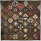 Sampler Quilt: Signed and Dated 1892