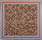 Miniature Evening Stars Quilt: Circa 1880; Pennsylvania