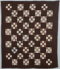 Nine Patch Quilt: Circa 1880; Pennsylvania