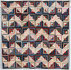 Streak of Lightning Crib Quilt: Circa 1910; Pennsylvania