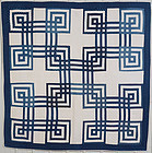 Carpenter's Square Quilt: Circa 1880; Pennsylvania
