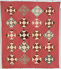 Hole in the Barn Door Crib Quilt: Ca. 1880; Pennsylvania