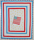 American Flag Quilt: Circa 1950's; Pennsylvania