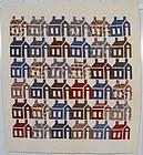 Schoolhouses Quilt: Circa 1880's; Pennsylvania