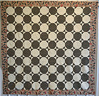 Octagons Quilt with Chintz Border: Circa 1850