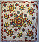 Seven Point Starbursts Quilt: Circa 1860; Pennsylvania