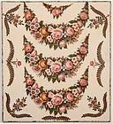 Chintz Broderie Perse Crib Quilt: Circa 1830