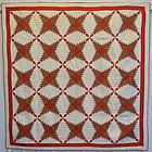 Pine Burr Quilt: Circa 1880; Ohio