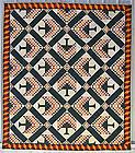 Pine Tree Quilt: Circa 1880; West Virginia