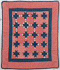 Evening Stars Cradle Quilt: Circa 1880; Pennsylvania