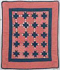 Evening Stars Cradle Quilt: Circa 1880; Pennsylvania