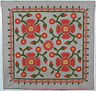 Rose Tree Quilt: Circa 1880; Pennsylvania