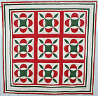 Oakleaf Quilt Signed and Dated 1850; Pennsylvania