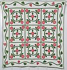 Floral Wreaths Quilt: Circa 1870; Pennsylvania