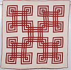 Carpenter's Square Quilt: Circa 1880
