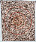 Miniature Mosaic Bullseye Quilt: Circa 1870