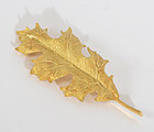 Tiffany Brooch - Gold Oakleaf; Circa 1970