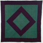 Mennonite Sawtooth Diamond Quilt: Circa 1880; Pennsylvania