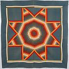 Blazing Lone Star Quilt: Circa 1880; Pennsylvania