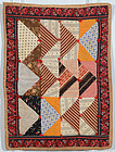 Triangles Doll Quilt; Circa 1880; Pennsylvania