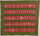 Nine Patch in Bars Quilt: Circa 1880; Pennsylvania