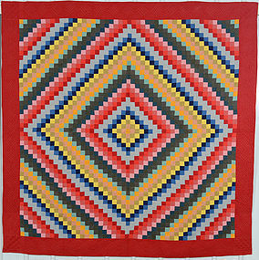 Trip Around the World Quilt: Circa 1880's; Pennsylvania