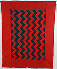 Mennonite Streak of Lightning Quilt: Circa 1880; Pennsylvania