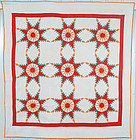 Feathered Stars Quilt: Circa 1910