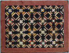 Windmill Blades Log Cabin Doll Quilt: Circa 1880