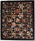 Tumbling Blocks/ Diamonds Victorian Quilt: Circa 1890; Pennsylvania