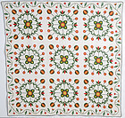 Original Pattern Applique Quilt: Circa 1860; Pennsylvania