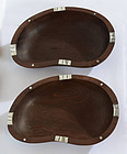 Pair of William Spratling Wood and Silver Bowls: Circa 1960