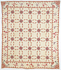 Touching Stars Quilt with Trapunto: Circa 1840; Pennsylvania