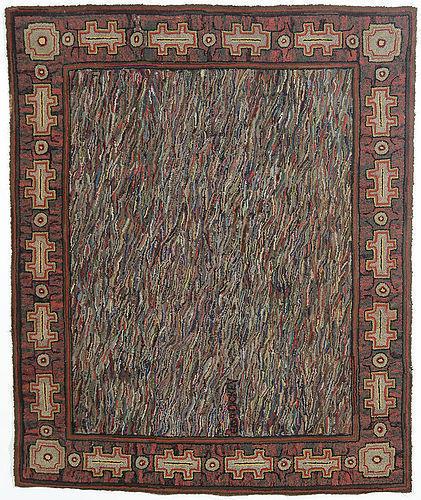 Large Abstract Hooked Rug: Circa 1930; Pennsylvania