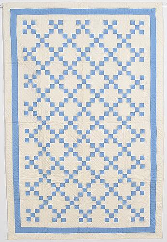 Nine Patch Crib Quilt: Circa 1920; Pennsylvania