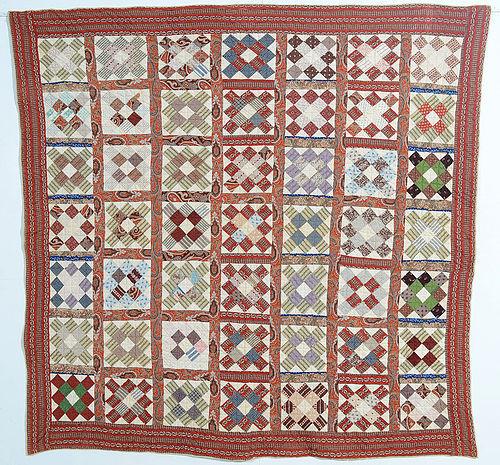 Album Patch Quilt: Circa 1860; Maryland