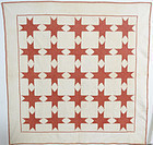 Feathered Stars Quilt: Circa 1860