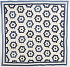 Indigo Hexagons Quilt: Circa 1880; Pennsylvania