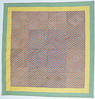 Embroidered Eye Dazzler Quilt: Circa 1920; Pennsylvania