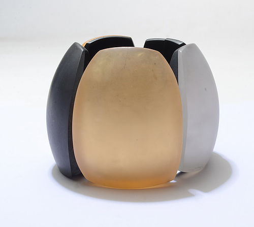 Huge Contemporary Multicolor Resin Bracelet
