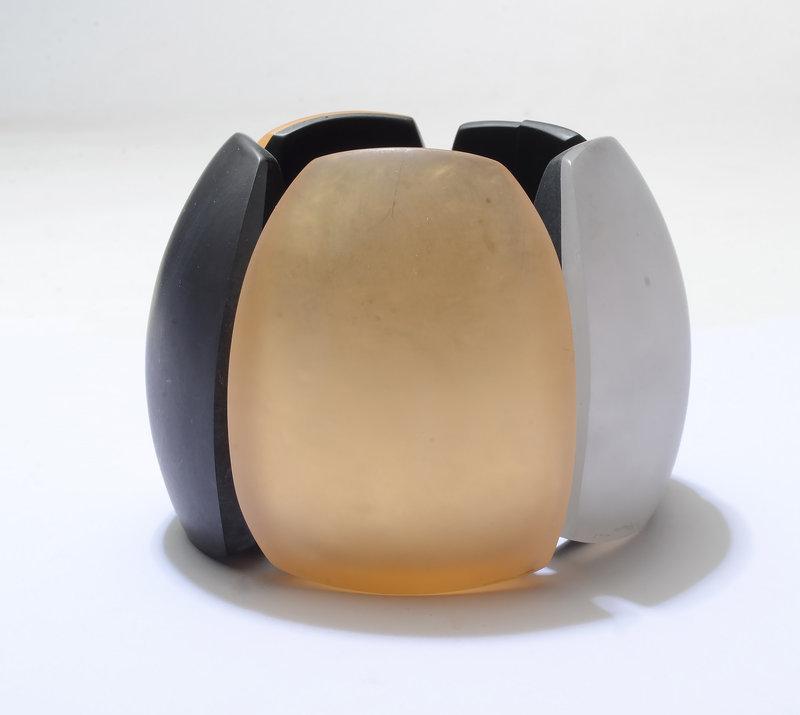 Huge Contemporary Multicolor Resin Bracelet